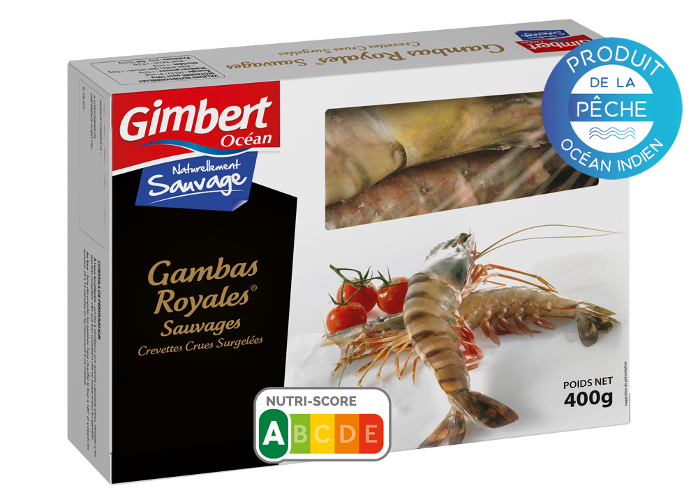 Packaging Gambas Royales sauvages Gimbert Océan