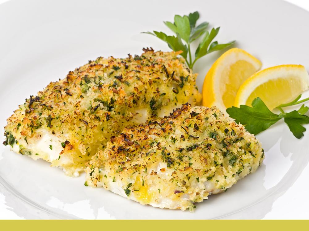 Photo de la recette de pavés de cabillaud rôtis à la crème citronnée.
