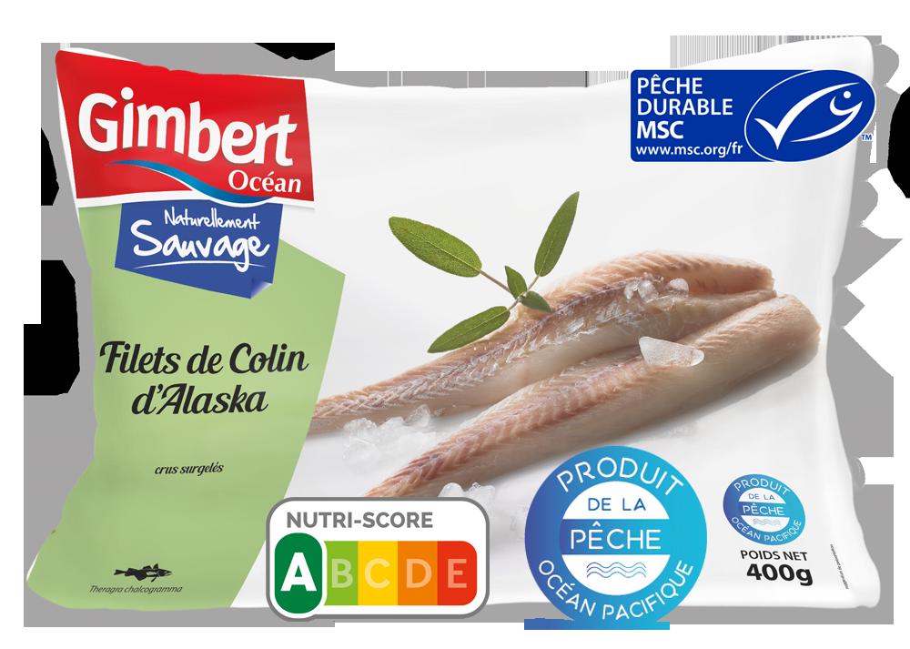 Filets de Colin d'Alaska Label MSC Gimbert Océan
