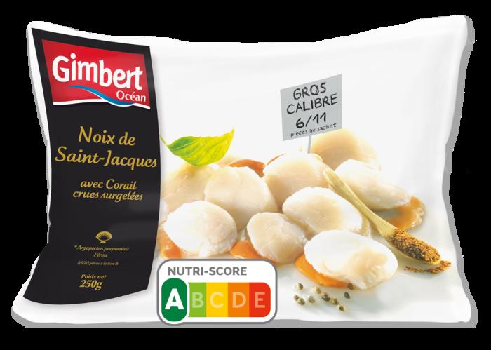 Noix de Saint-Jacques avec Corail Gimbert Océan