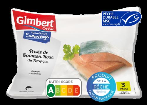 Pavés de Saumon rose du Pacifique Label MSC Gimbert Océan