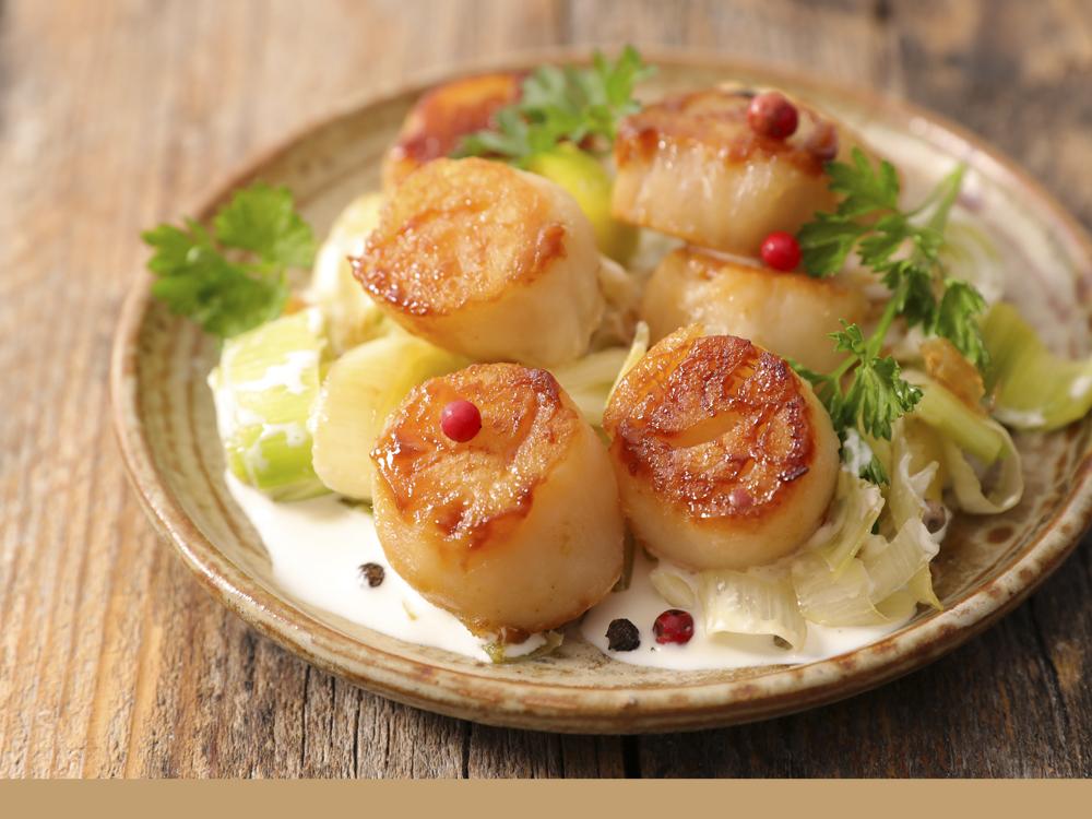 Photo de la recette des noix de saint-jacques au four