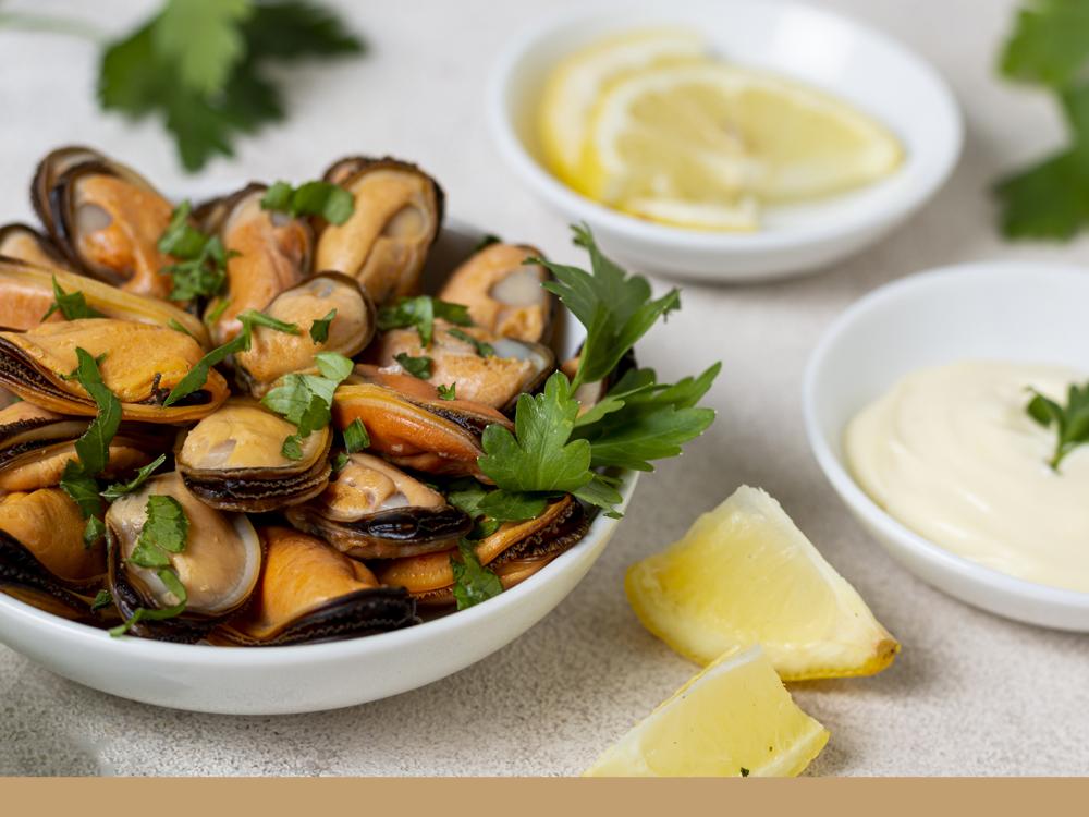Photo de la recette de moules décoquillées fondue de poireaux et tagliatelles