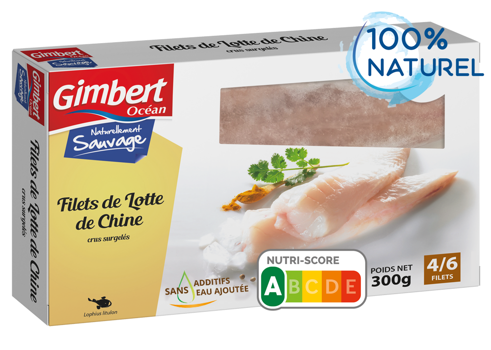 Filets de lotte sans additifs Gimbert Océan